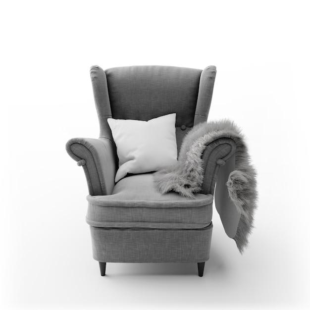 Chaise Moderne Confortable Isolée Psd gratuit