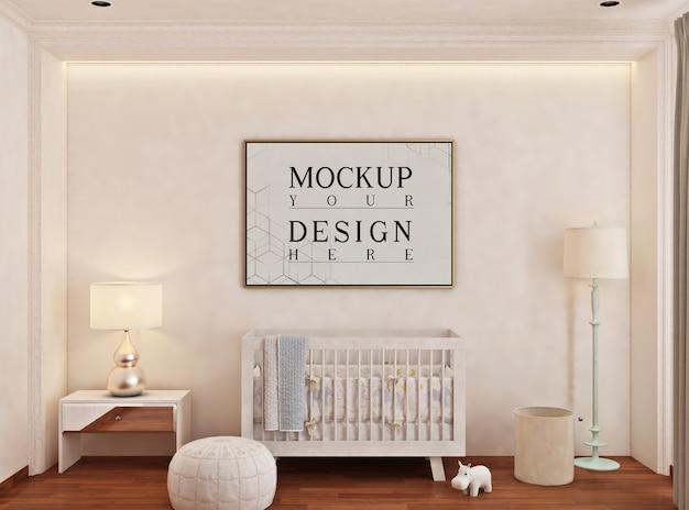 Chambre De Bébé Avec Cadre D'affiche De Maquette PSD Premium