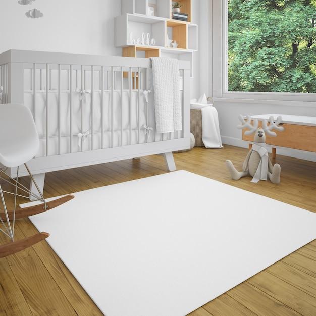 Chambre Bébé Avec Luminosité Psd gratuit