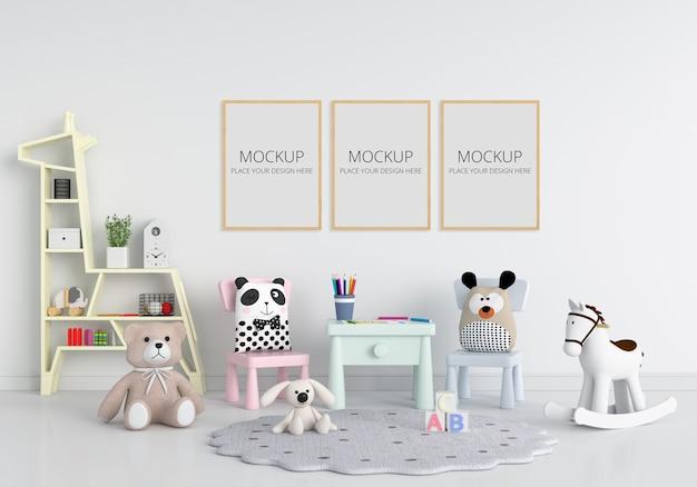 Chambre D'enfant Blanche Avec Maquette De Cadre PSD Premium