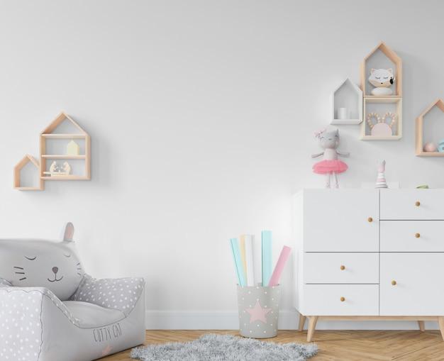 Chambre D'enfant Avec étagères Et Jouets Psd gratuit