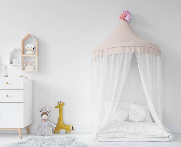 Chambre D'enfant Avec Lit Princesse Et Jouets Psd gratuit