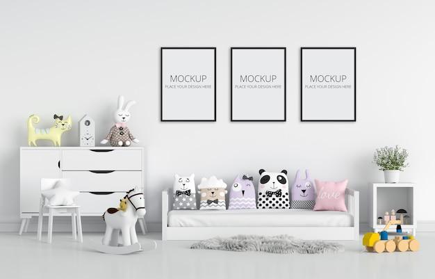 Chambre D'enfants Blanc Pour Maquette PSD Premium