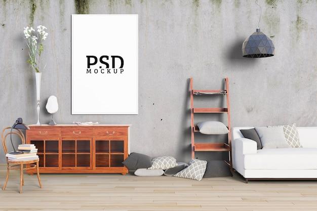 La Chambre A De Vieux Murs Et Cadres PSD Premium