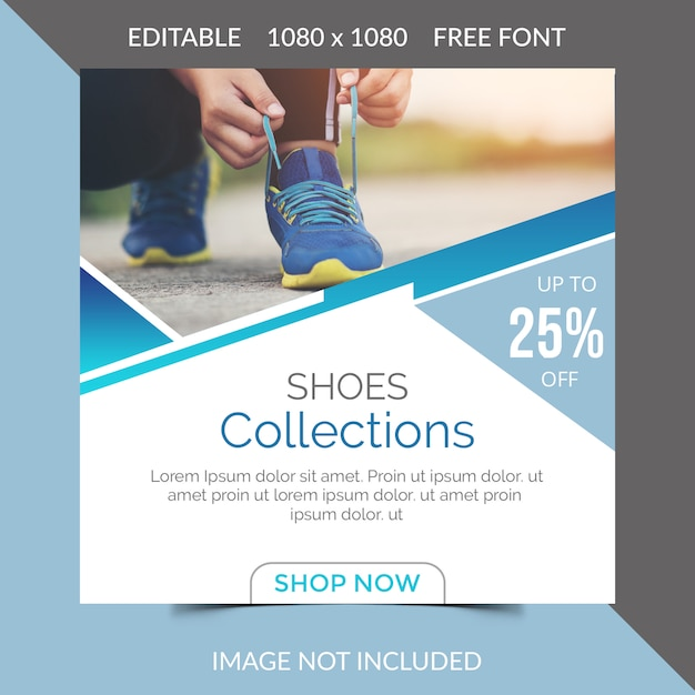 Chaussures social media post design PSD Premium