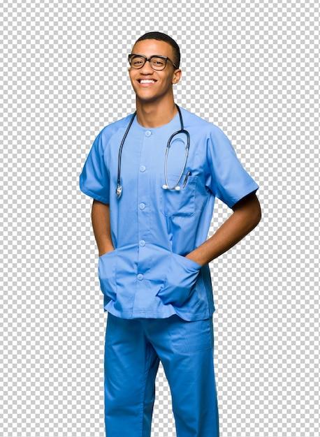 Chirurgien Médecin Avec Des Lunettes Et Heureux PSD Premium