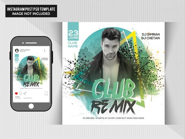 Circulaire Club Remix Party PSD Premium