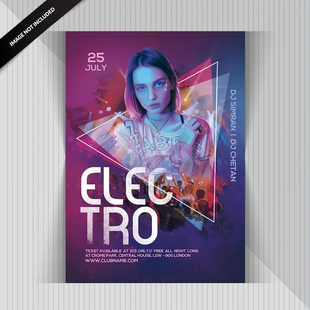 Circulaire dj electro party PSD Premium