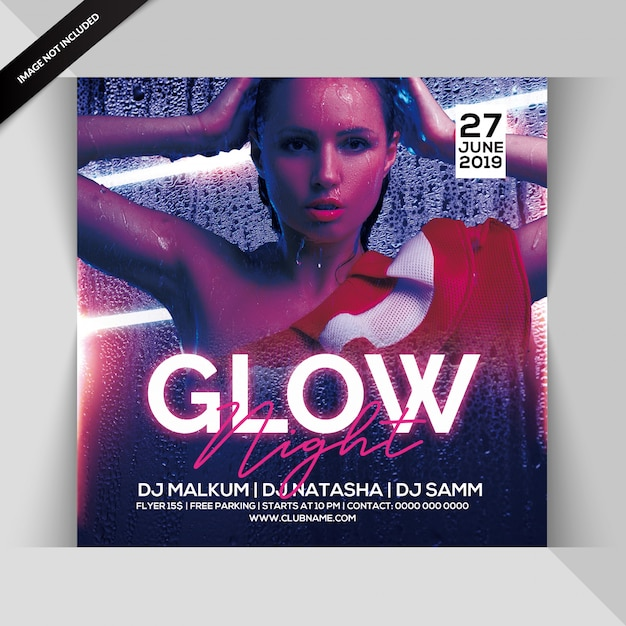 Circulaire glow night party PSD Premium