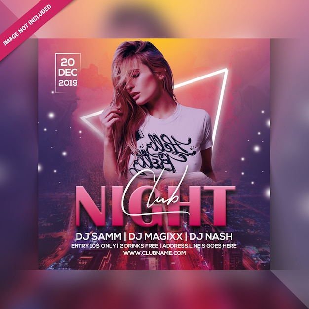 Circulaire Party Club Night PSD Premium