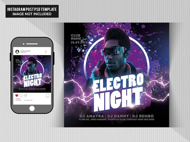 Circulaire de soirée électro PSD Premium
