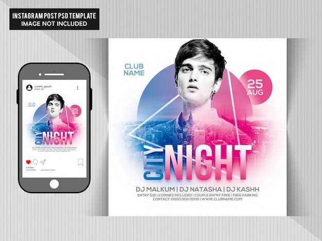 City Night Party Flyer PSD Premium