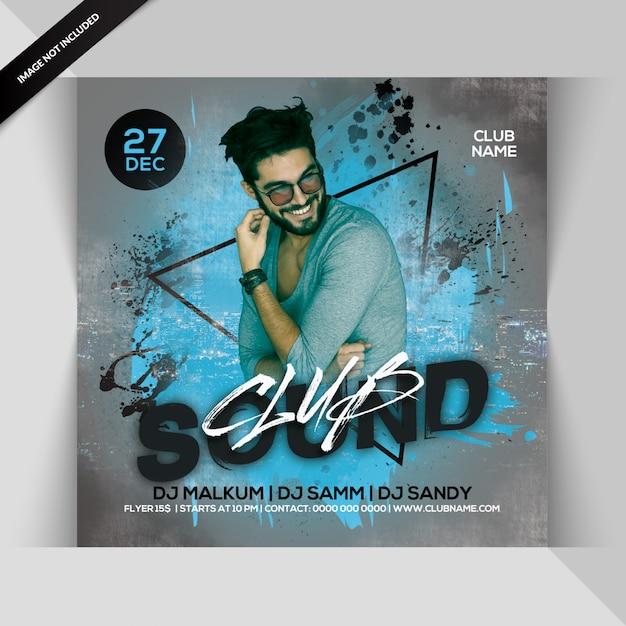 Club sounds party flyer PSD Premium