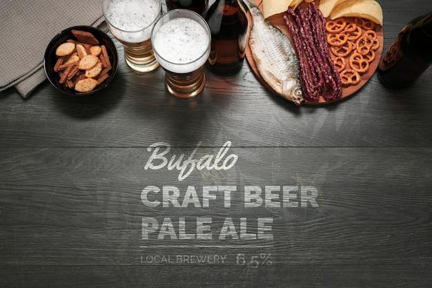 Collations Maquettes Pour La Bière Artisanale Psd gratuit