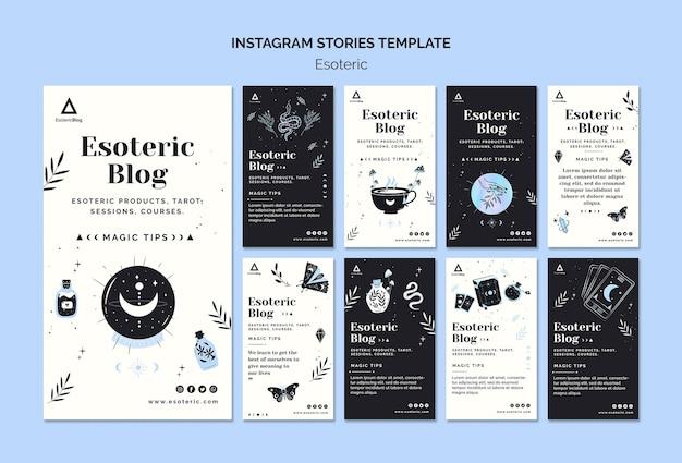 Collection D'histoires Instagram Pour Blog ésotérique PSD Premium