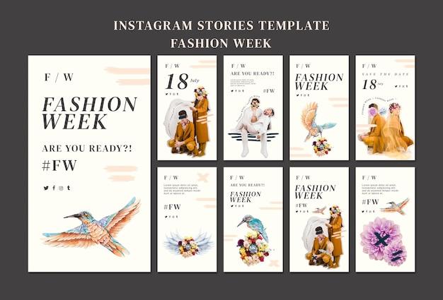 Collection D'histoires Instagram Pour La Fashion Week Psd gratuit