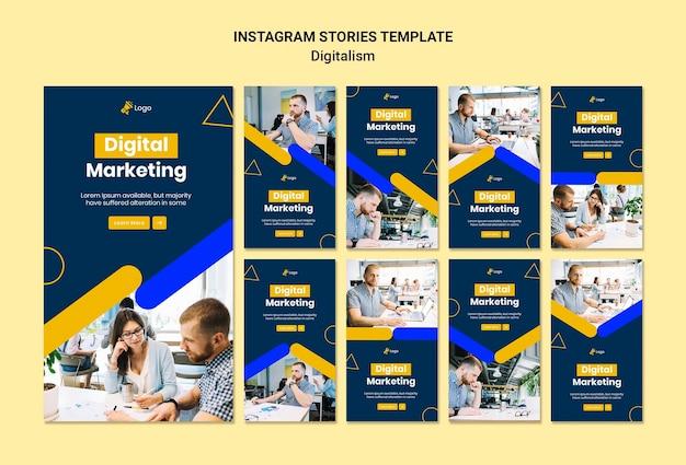 Collection D'histoires Instagram Pour Le Marketing Numérique Psd gratuit