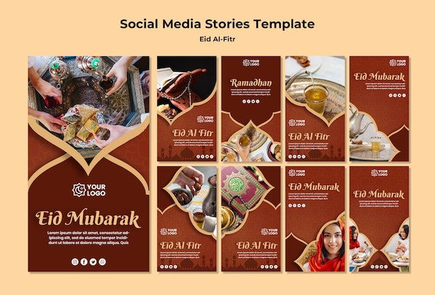 Collection D'histoires Instagram Pour Ramadhan Kareem Psd gratuit