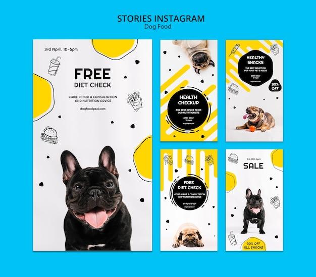 Collection D'histoires De Nourriture Pour Chiens Instagram Psd gratuit