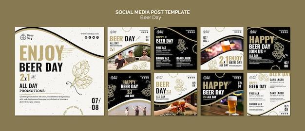 Collection De Publications Instagram Jour De Bière Psd gratuit