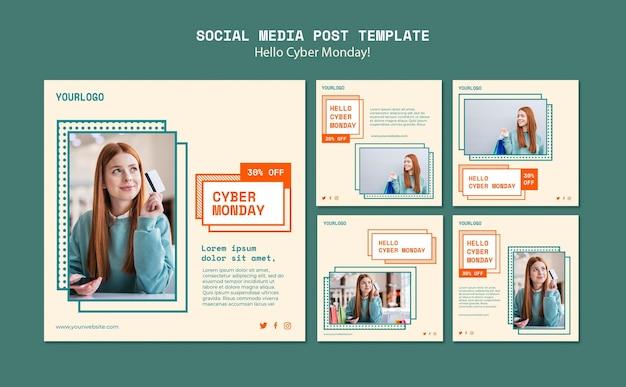 Collection De Publications Instagram Pour L'autorisation Du Cyber Lundi Psd gratuit