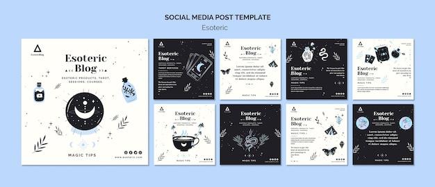 Collection De Publications Instagram Pour Le Blog ésotérique PSD Premium