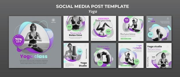 Collection De Publications Instagram Pour Les Cours De Yoga PSD Premium
