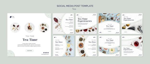 Collection De Publications Instagram Pour L'heure Du Thé Psd gratuit