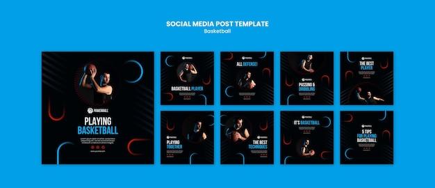 Collection De Publications Instagram Pour Jouer Au Basket Psd gratuit