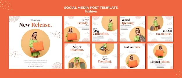 Collection De Publications Instagram Pour Magasin De Mode PSD Premium