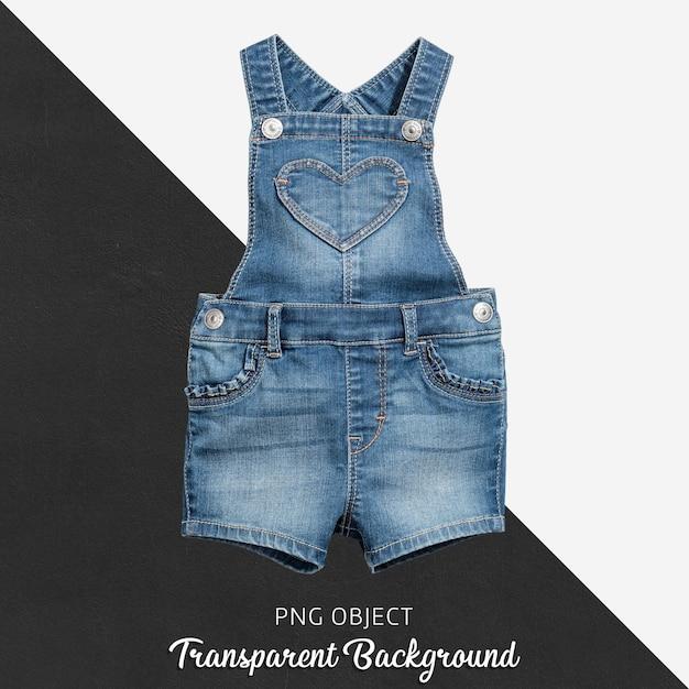 Combinaison jean pour bébé ou enfant sur fond transparent PSD Premium