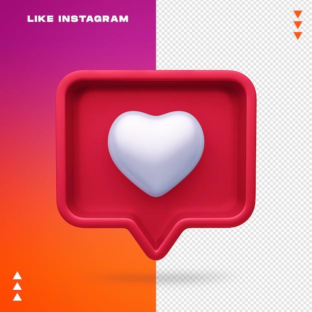 Comme Instagram Isolé PSD Premium