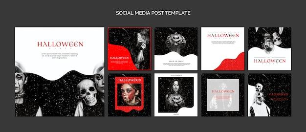 Compilation De Modèles De Médias Sociaux Pour Halloween Psd gratuit