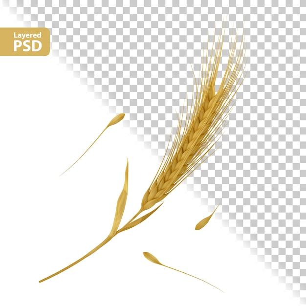 Composition D'oreilles Jaunes Avec Pose De Graines Psd gratuit