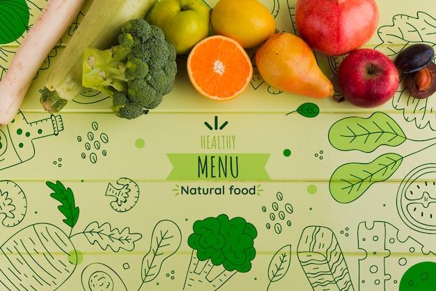 Composition à plat de légumes Psd gratuit