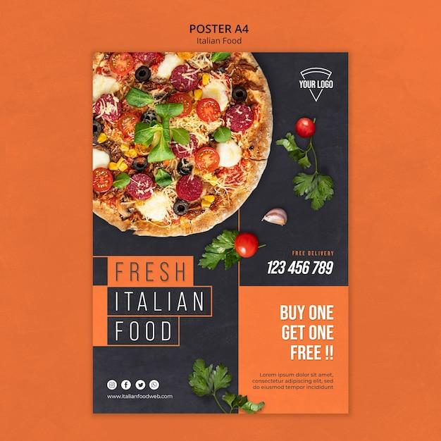 Concept D'affiche De Cuisine Italienne Psd gratuit