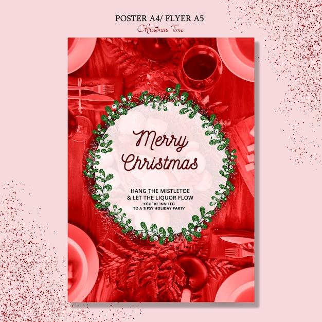 Concept D'affiche Joyeux Noël Psd gratuit