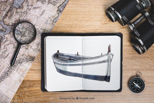 Concept d'aventure et d'exploration Psd gratuit