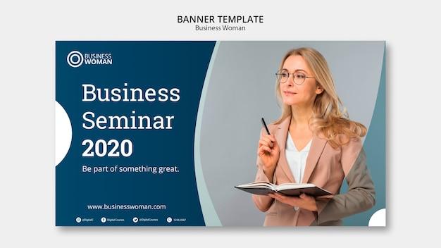 Concept de bannière pour le modèle d'entreprise Psd gratuit