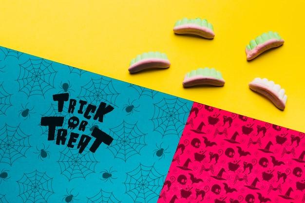 Concept Coloré De Halloween Avec Des Dents Psd gratuit