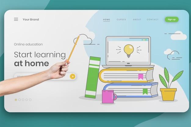 Concept de cursus universitaire en ligne Psd gratuit