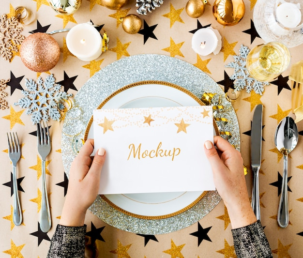 Concept de décorations de fête de noël, nouvel an Psd gratuit