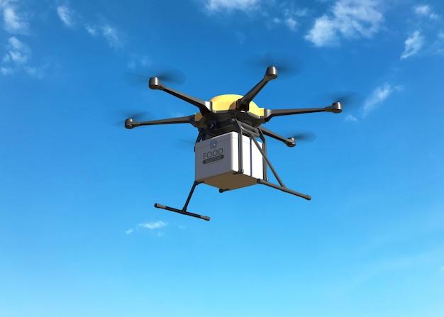 Concept de drone de livraison de nourriture PSD Premium