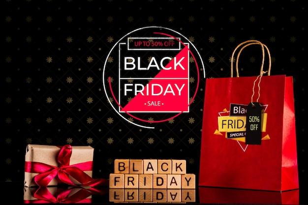 Concept du vendredi noir avec offre spéciale Psd gratuit