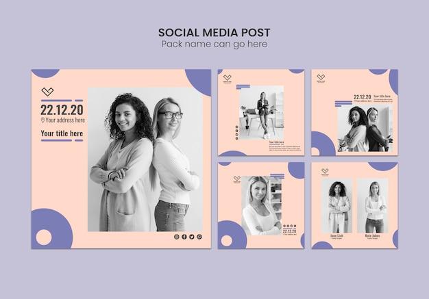 Concept d'entreprise pour les publications sur les médias sociaux Psd gratuit