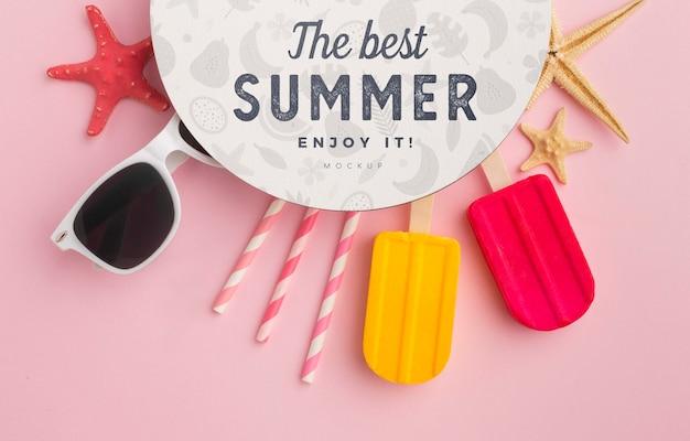 Concept D'été Avec Des Lunettes De Soleil Psd gratuit