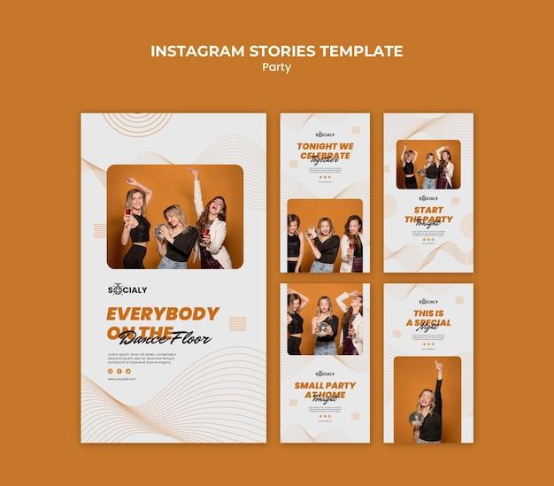 Concept De Fête Instagram Stories Psd gratuit