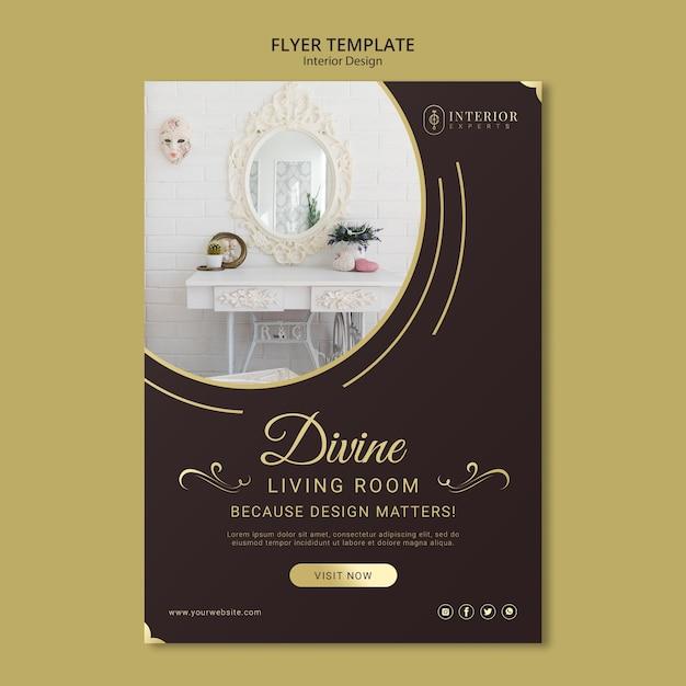 Concept De Flyer De Design D'intérieur Psd gratuit