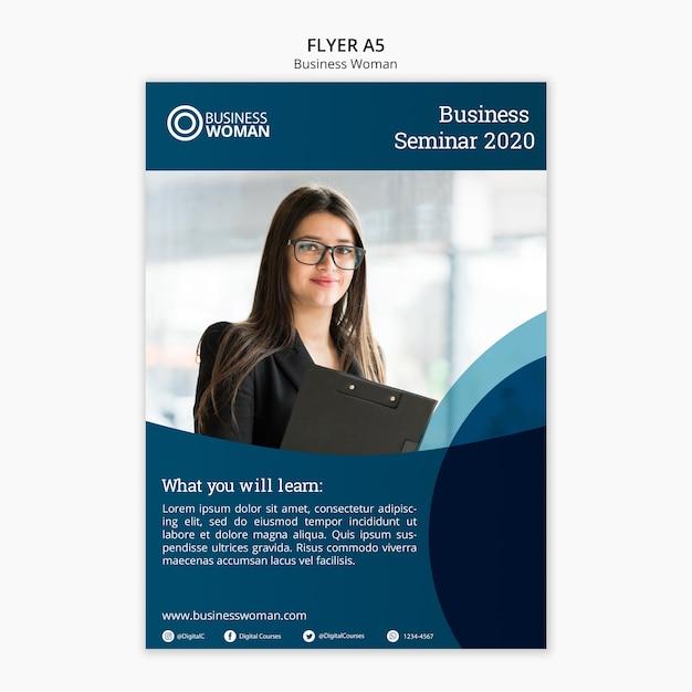 Concept de flyer pour business model Psd gratuit