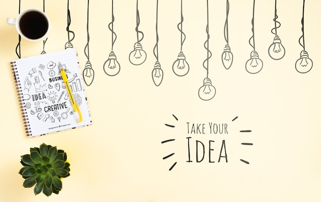 Concept d'idée portable Psd gratuit
